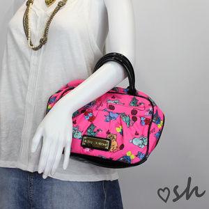 Betsey Johnson Pink Cat Print Cosmetic Bag